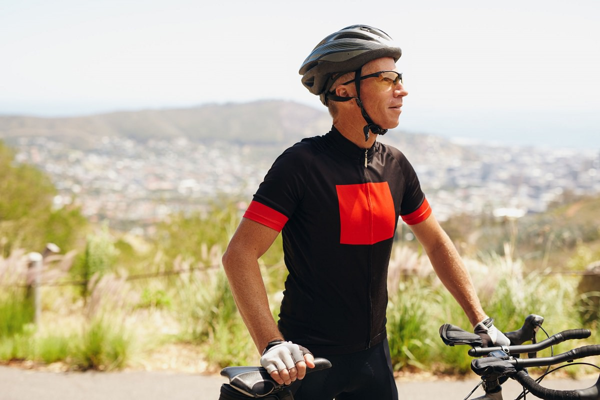 Focused cyclist
