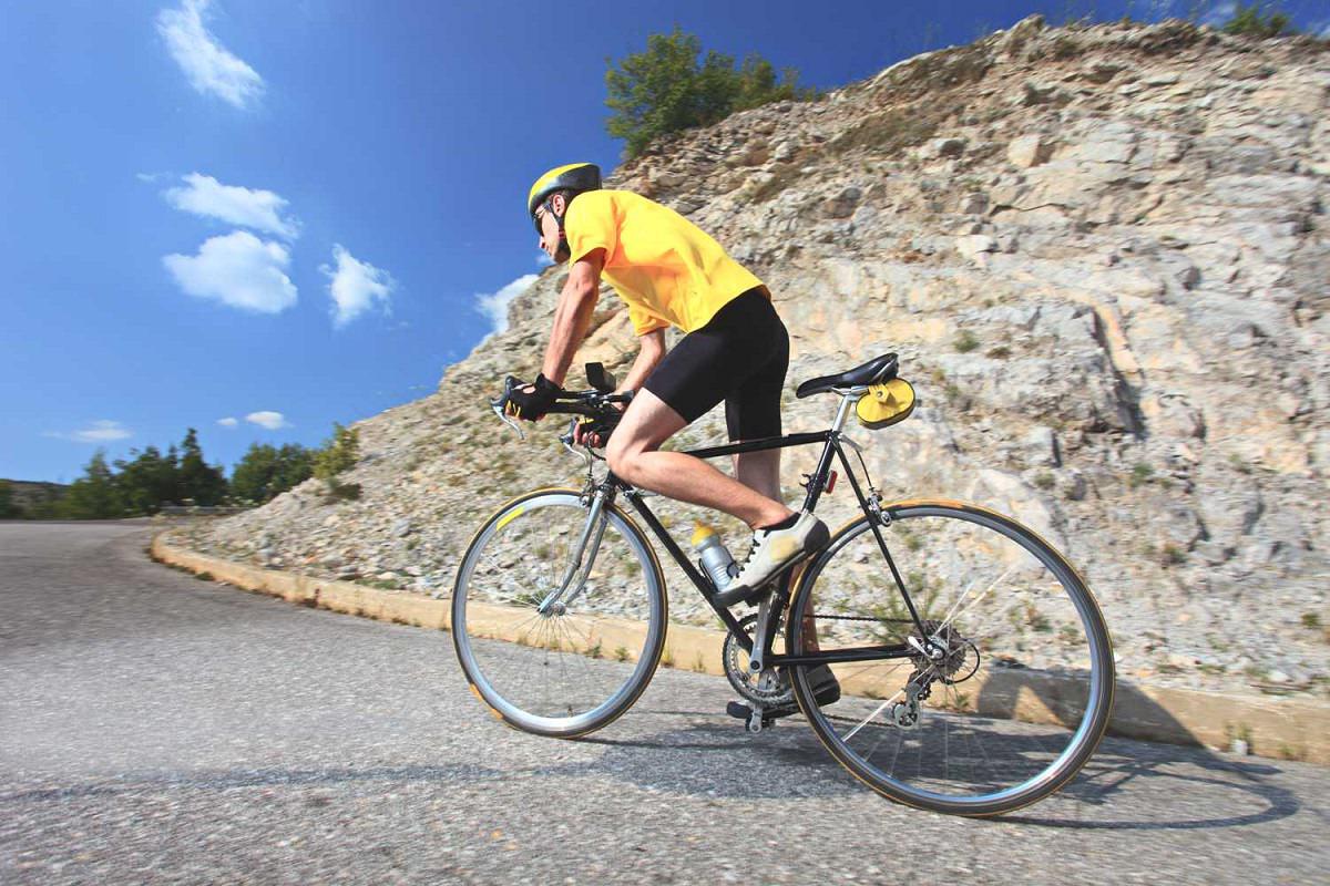 Cycling uphill