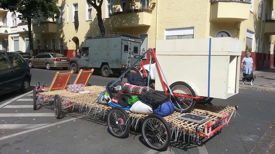 8rad bike with stuff on