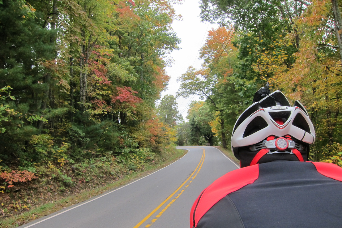 Cycling in fall colors