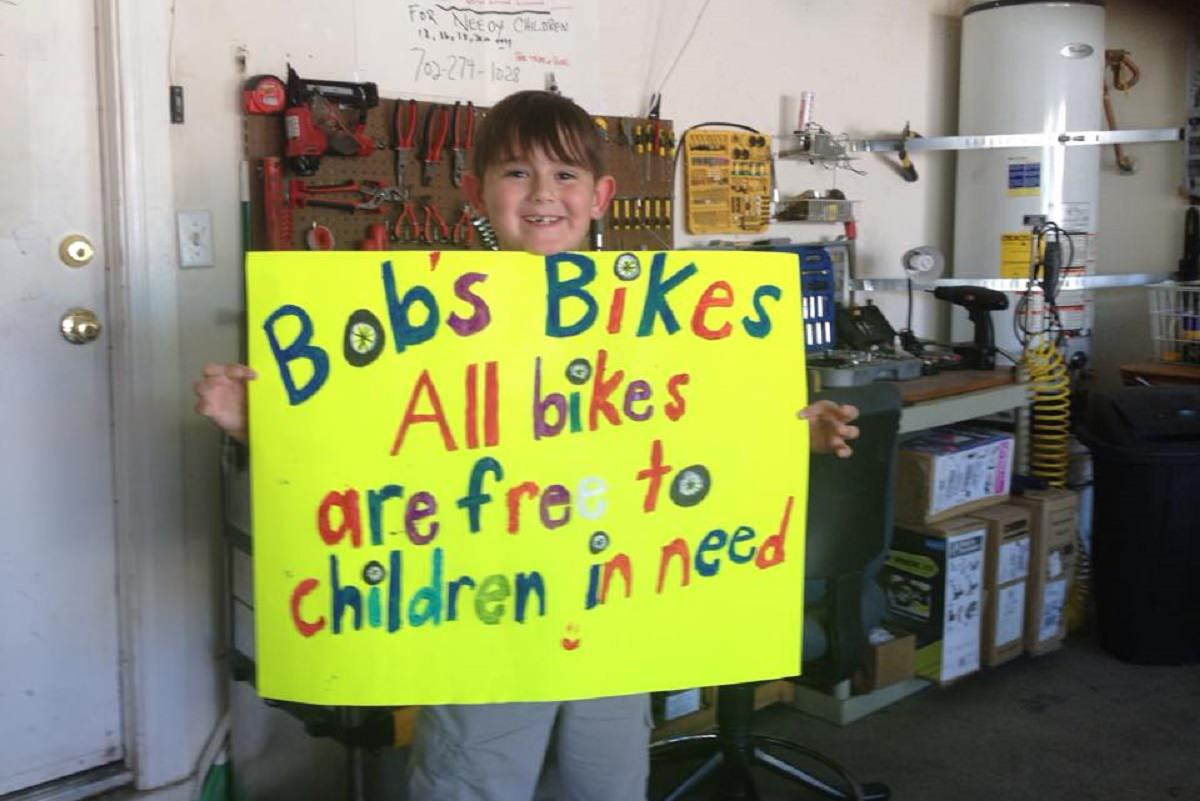 Bobs bikes for needy kids