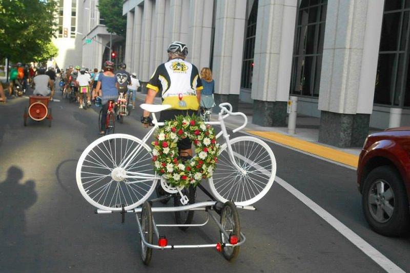 Ghost bike transport