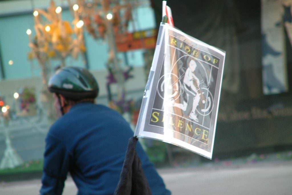 Toronto Ride of Silence flag