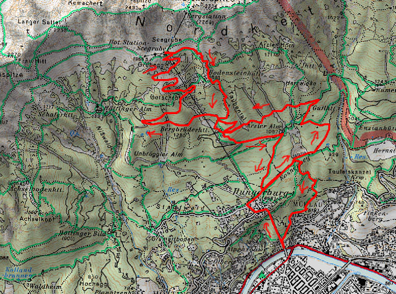 Austria, map of the mountain bike report