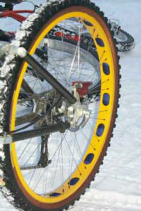 Winter tires with disc brakes