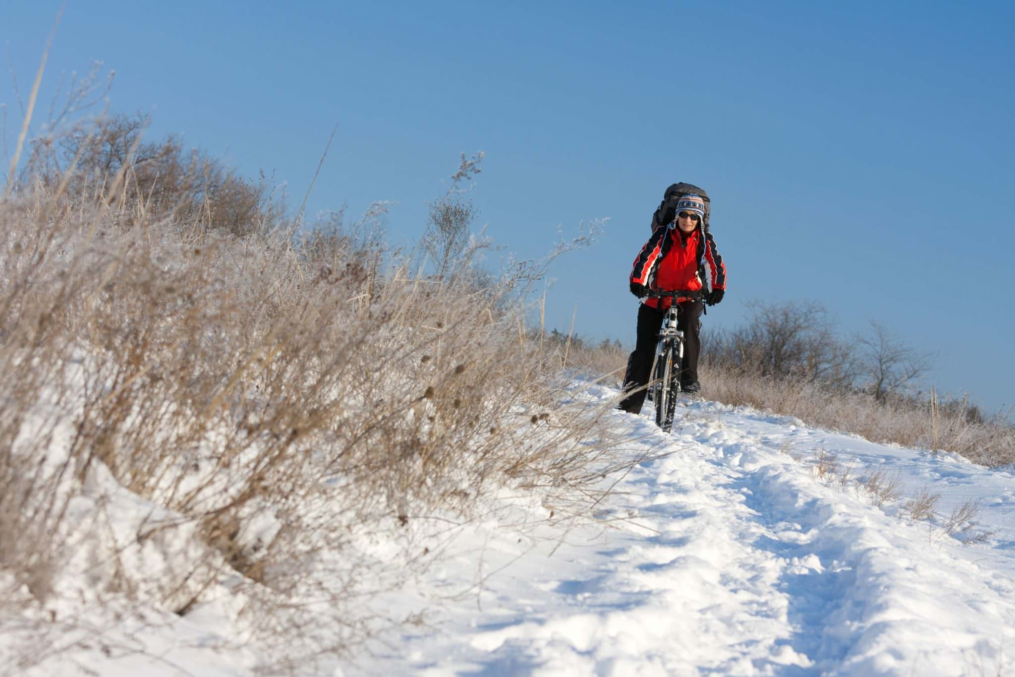 Cycling in winter clothing