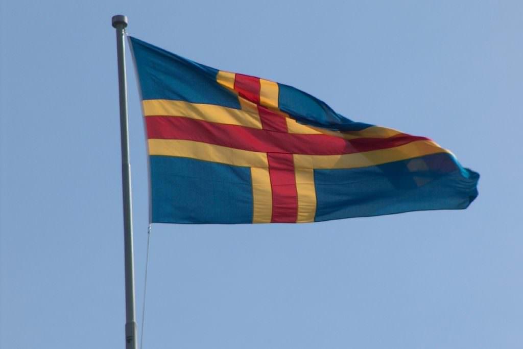 Aaland flag