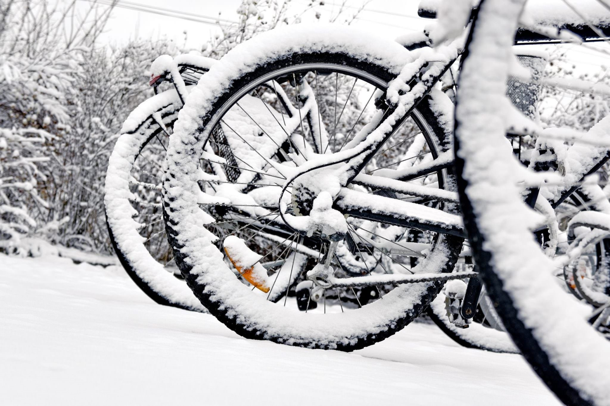 Bike fenders in snow