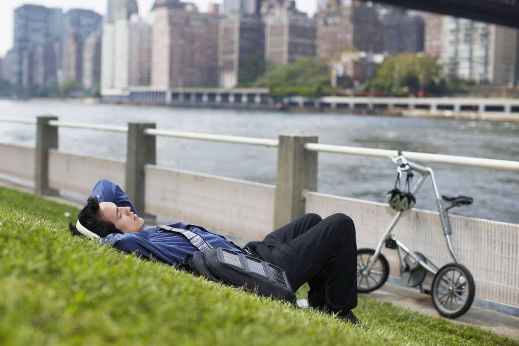 Folding bike relaxation