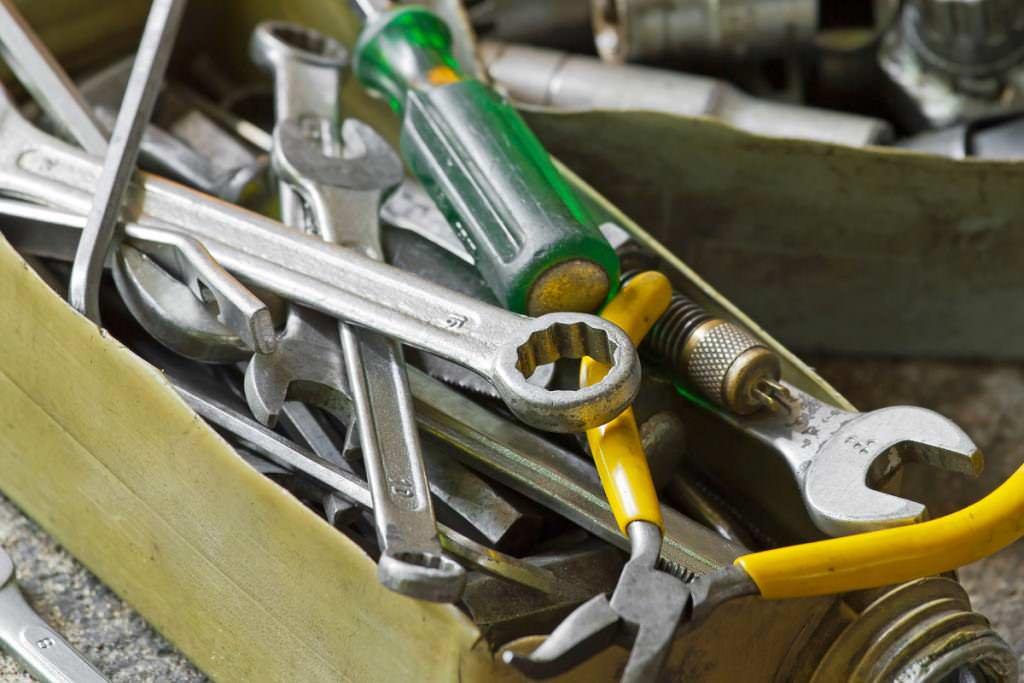 Toolbox for a bike mechanic