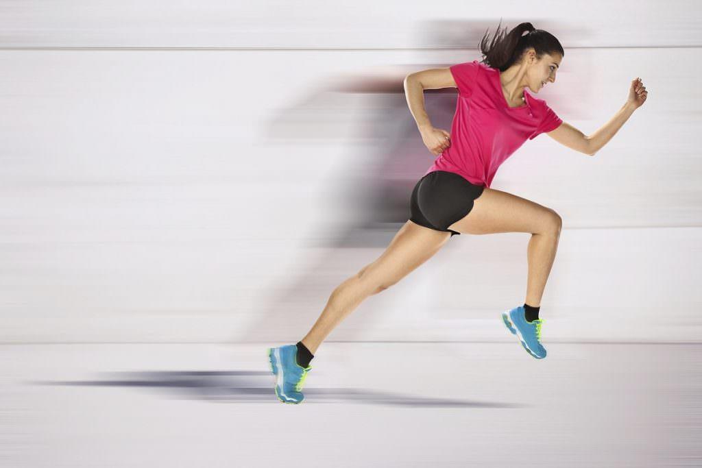 Fast female runner