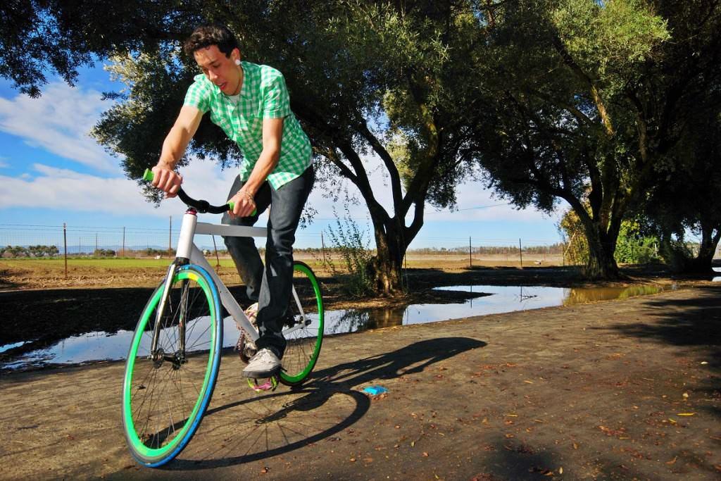 Fixie bike trick