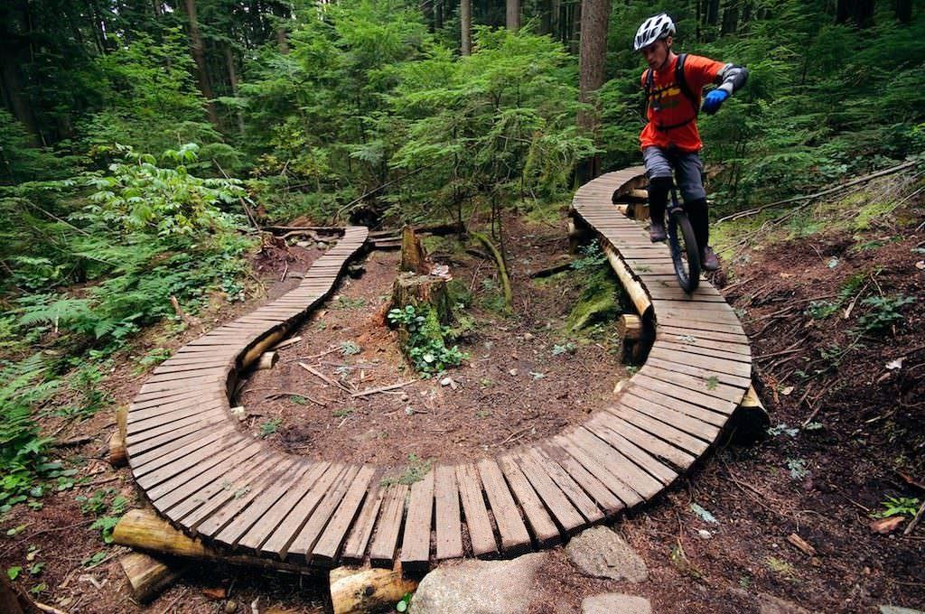 Kris Holm unicycling