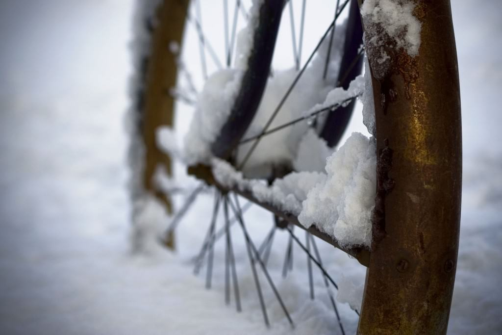 Historic snow bike