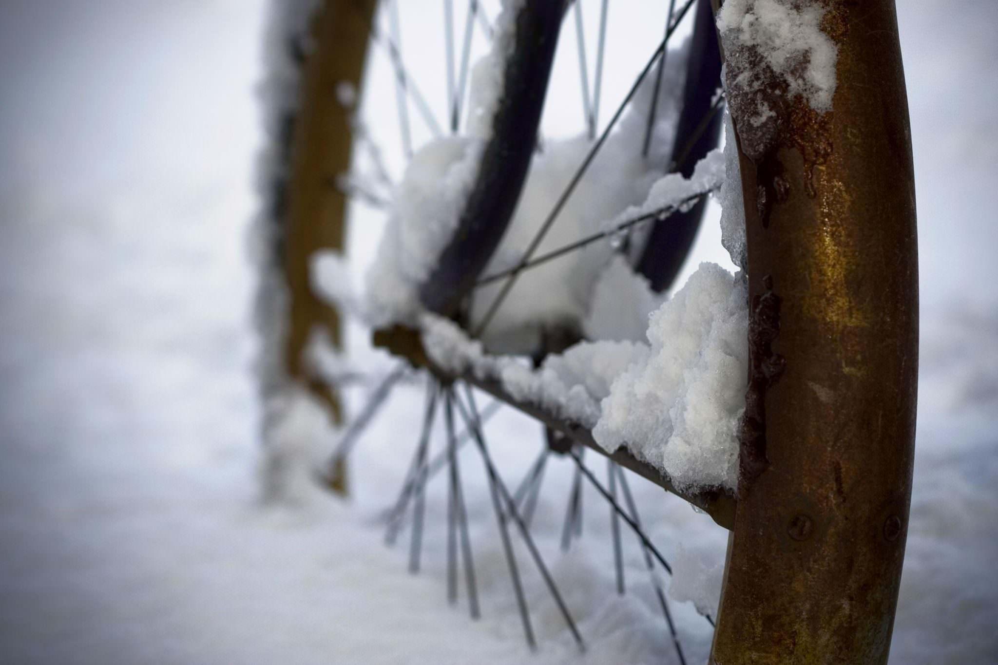 Historic snow bike