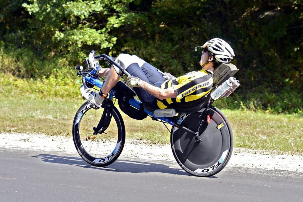 Recumbent road bike