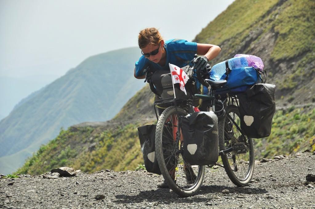 Dragging the bike