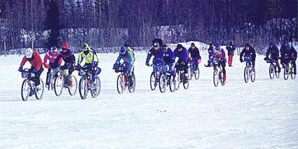 Winter cycling race