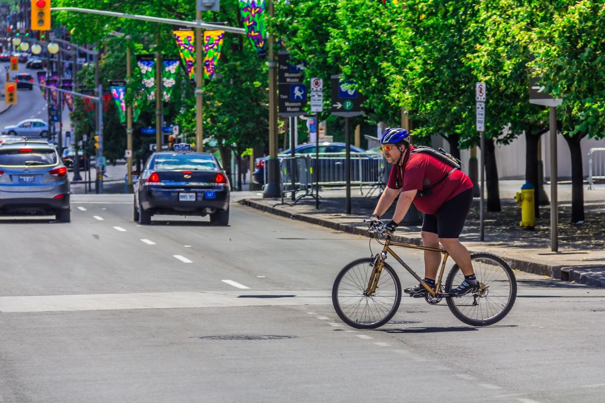 Bicyclist loosing weight
