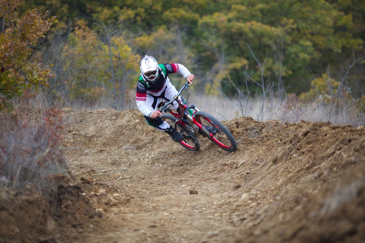 Mountain bike event biker