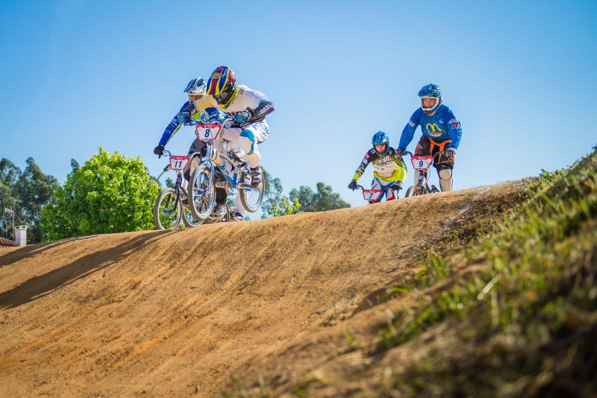 BMX race with bikers