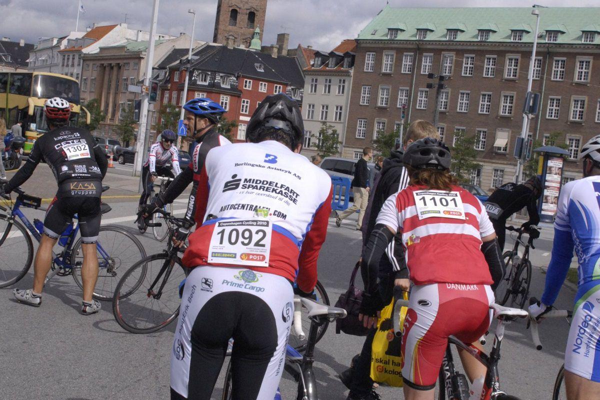 Cycling in Copenhagen, Denmark