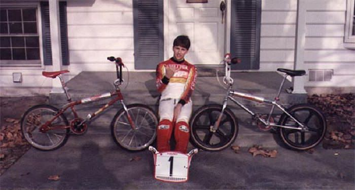 Gary racing in the 80's