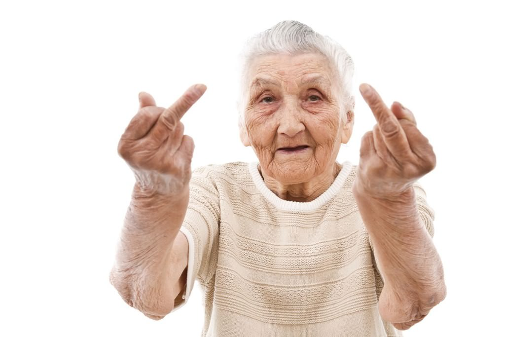Old woman fingers