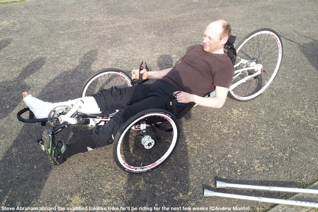 Steven Abraham recumbent bike