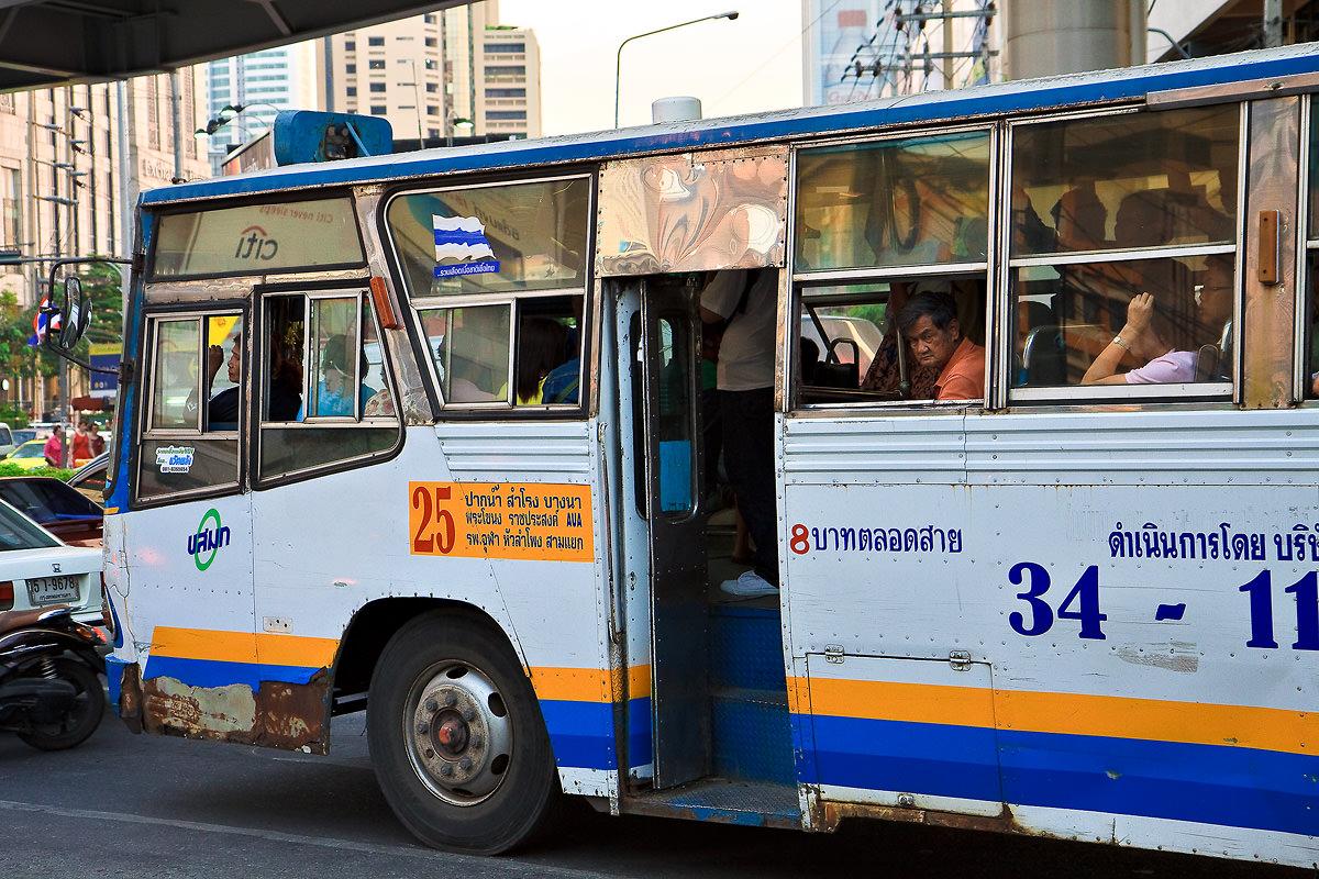 Public bus on road