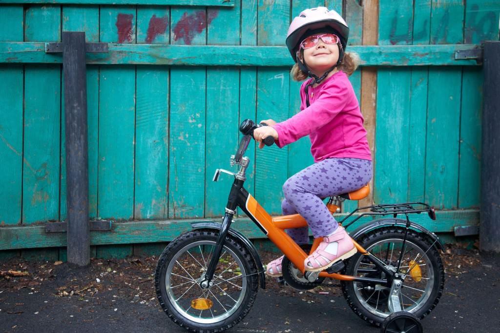 Small girl on a bike