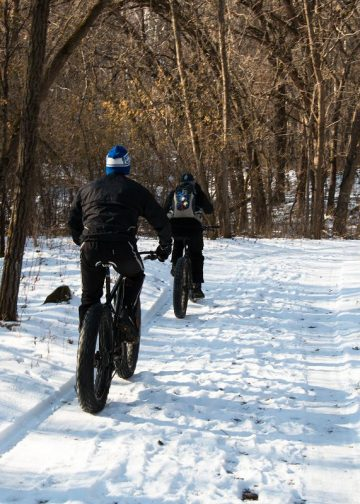 Riding fat tire bikes