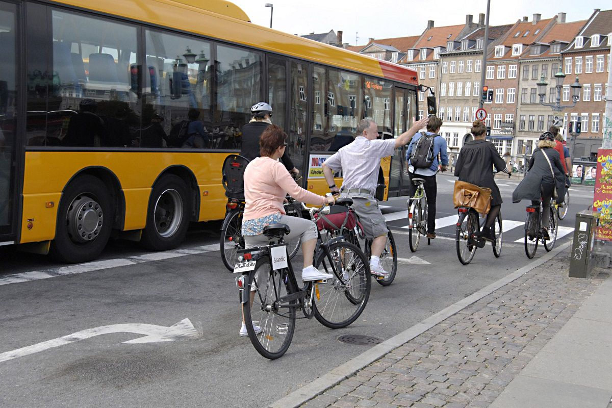 Cycling on busy streets