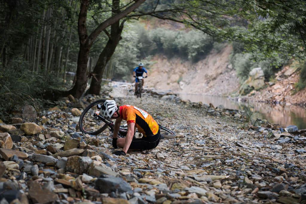Fallen of the bike