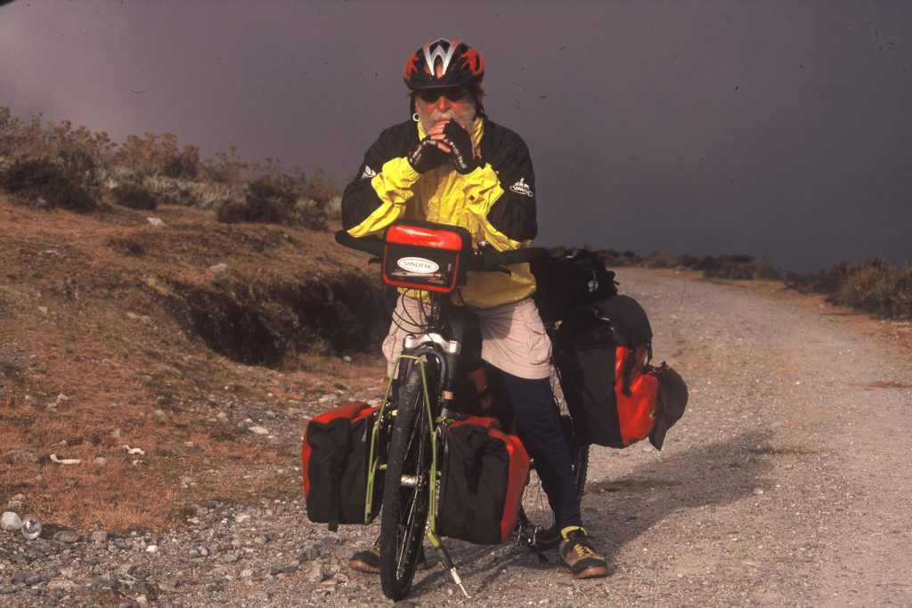 Bicycle touring with bags