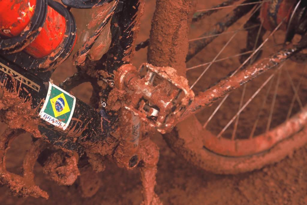 Muddy bike in Amazonas