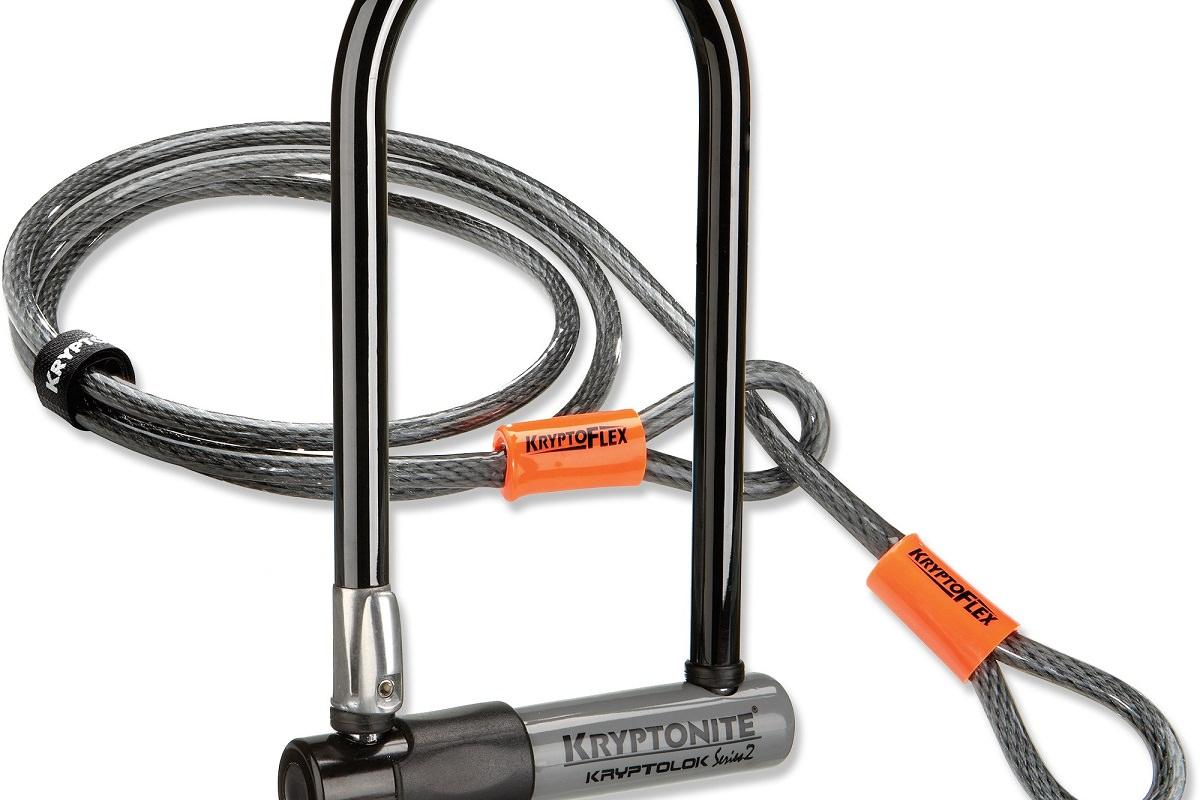 Kryptonite KryptoLok Series 2 U-Lock with 4' Flex Cable
