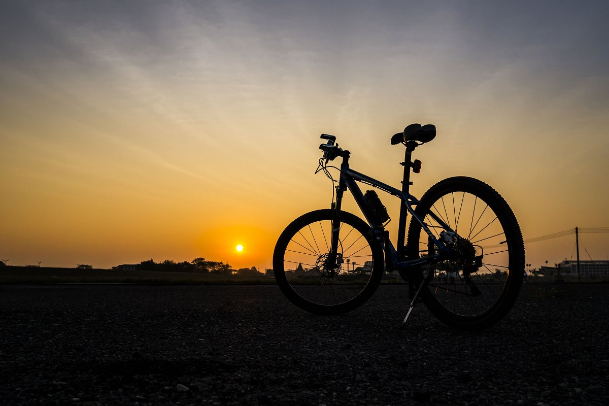 Nice bike at sunset