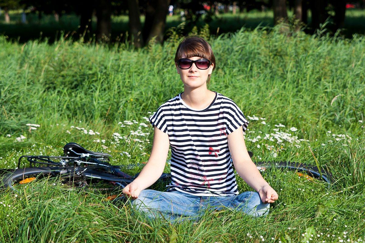 Meditating next to a bike