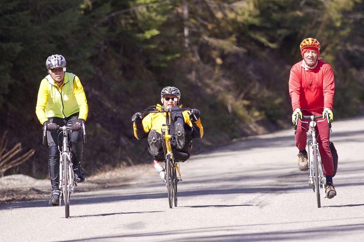 Recumbent and upright bikes