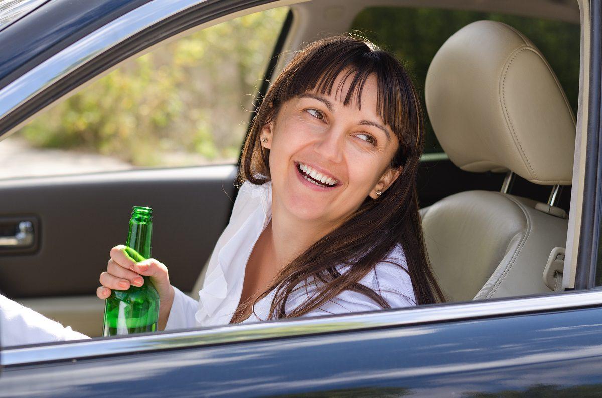 Drunk woman driving