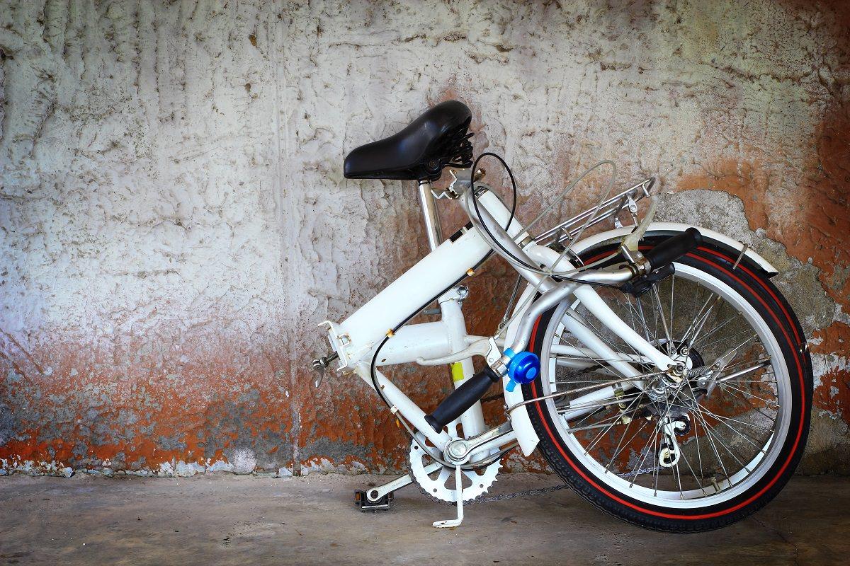 Broken folding bike
