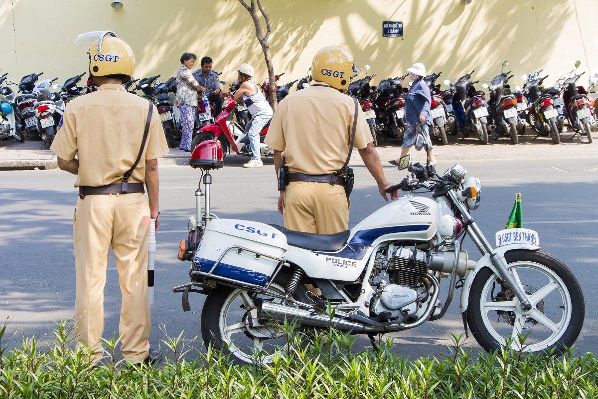 Vietnamese police officers