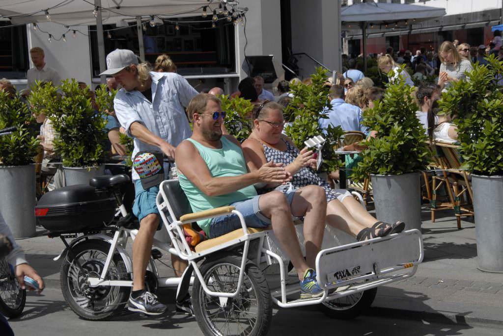 Rickshaw with tourists