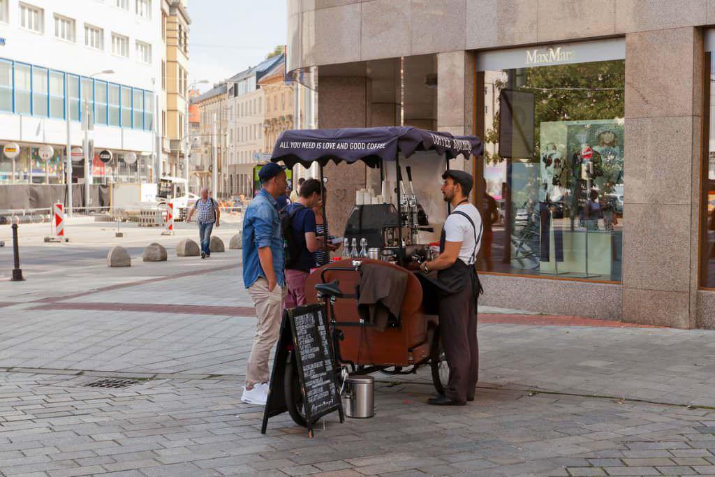 Cycling barista