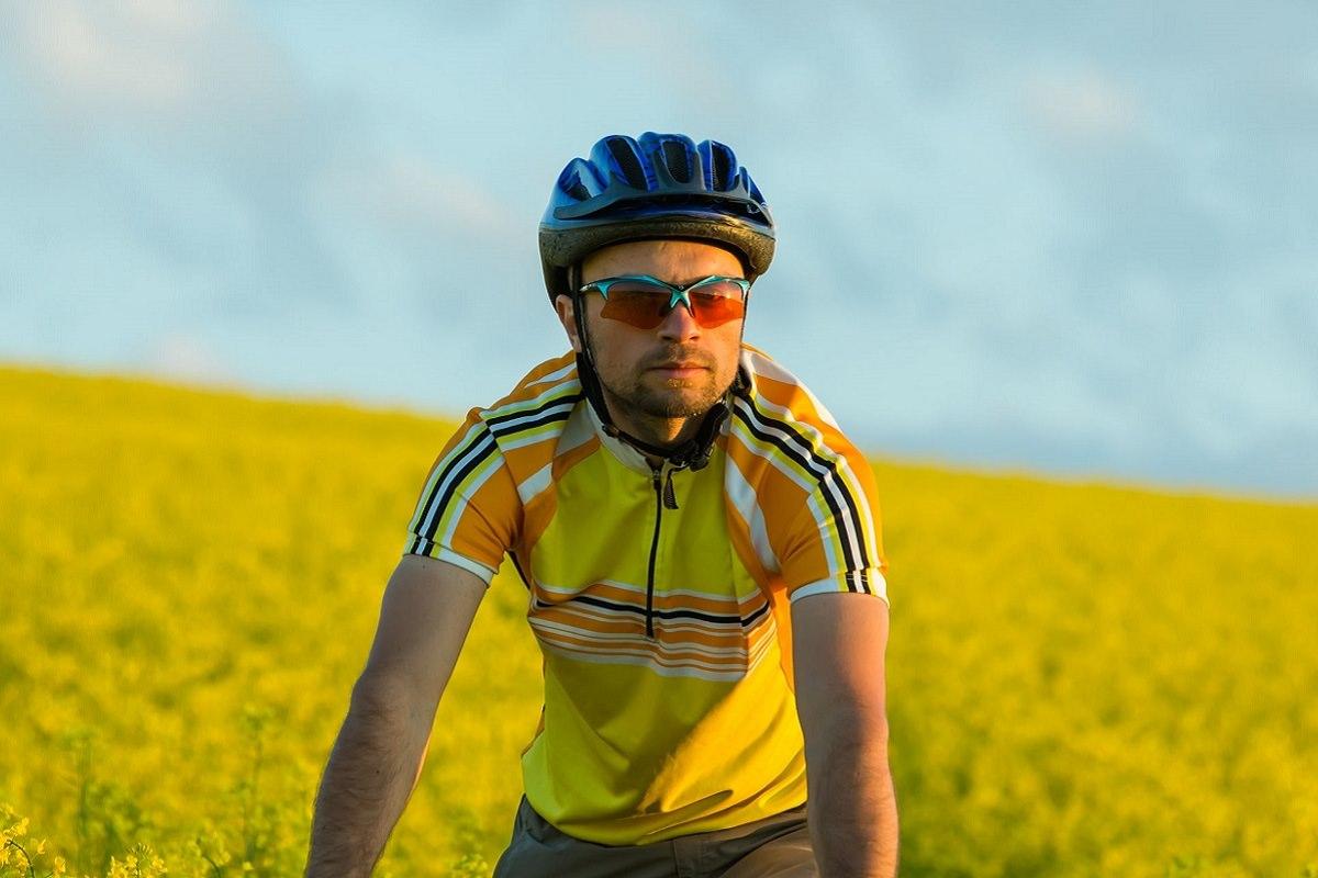 Worried cyclist