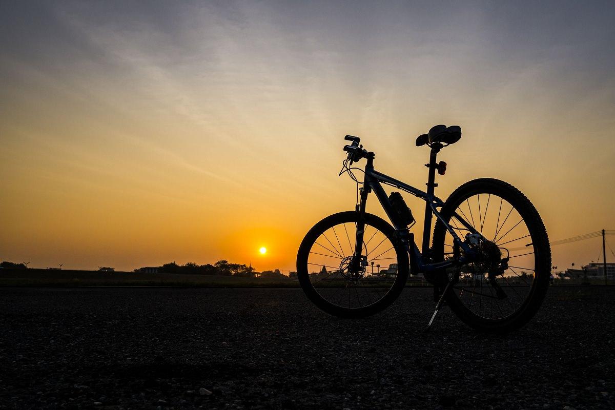 Bike in the sunset
