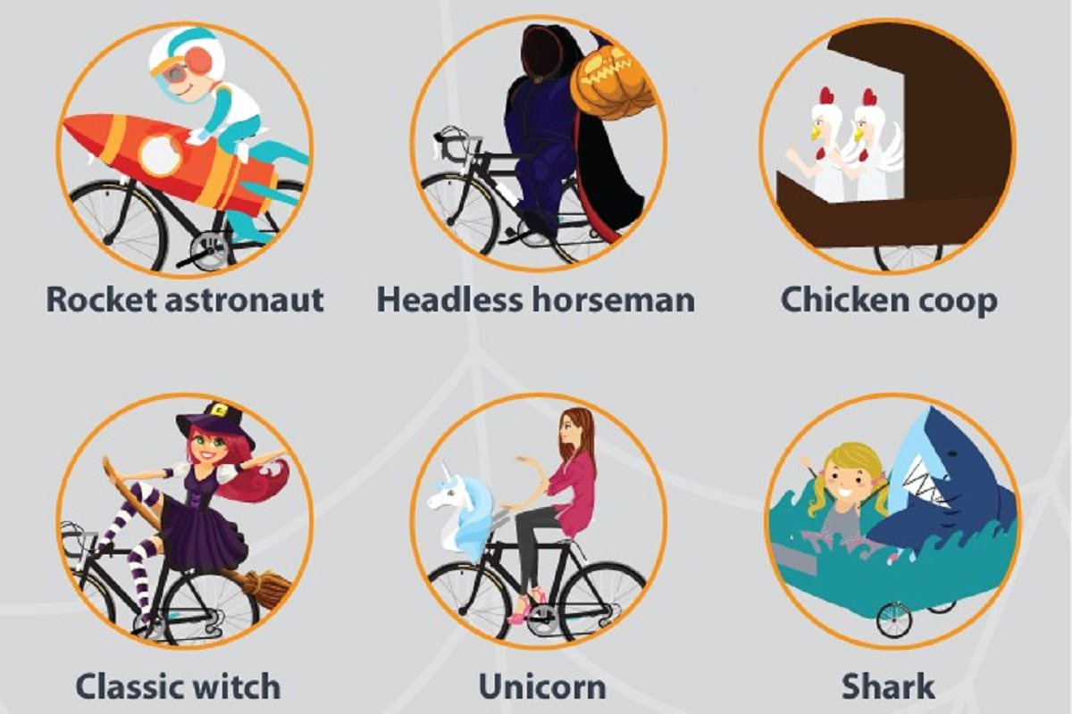 Halloween bike costumes