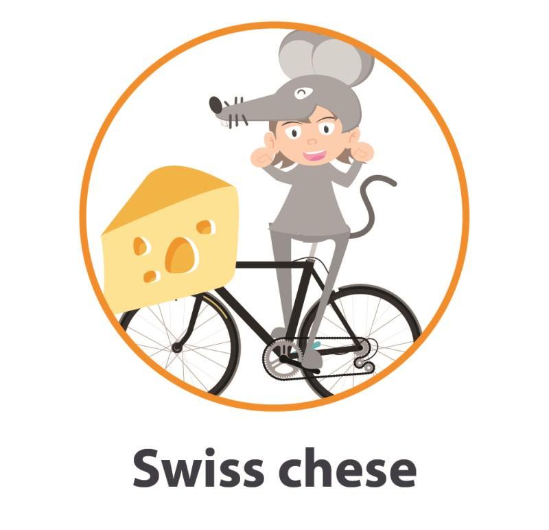 Swiss cheese costume