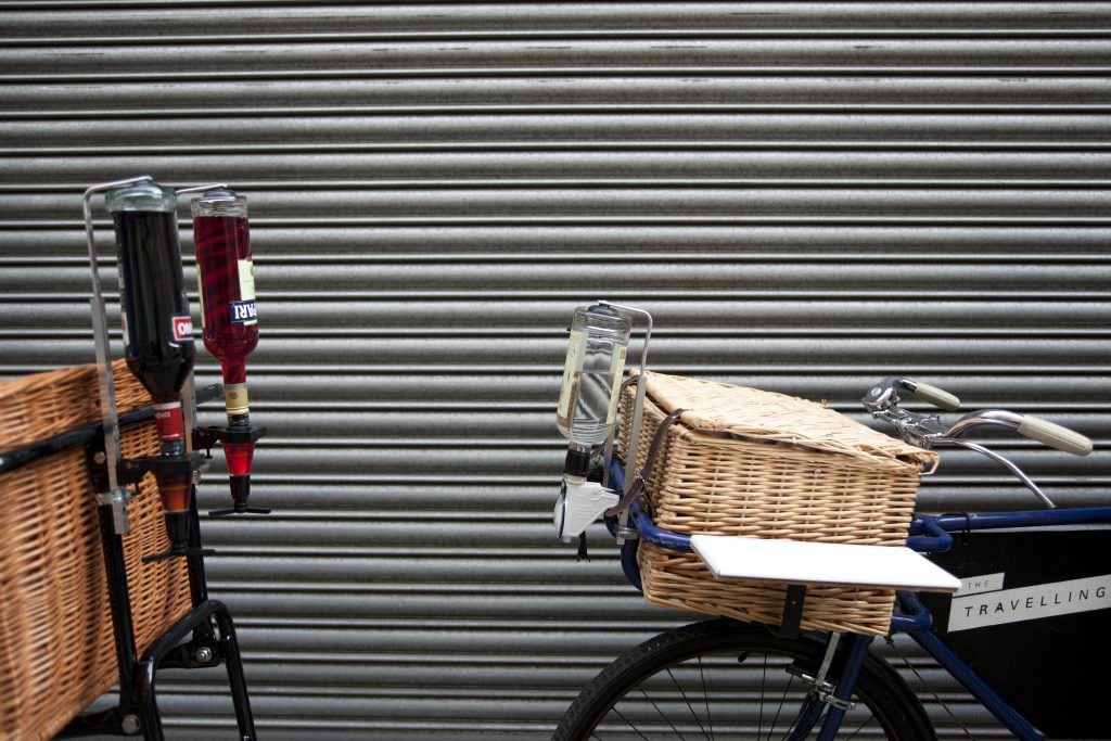 Bike gin delivery